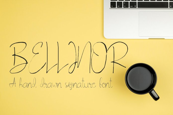 Blinor A Hand Drawn Signature Font