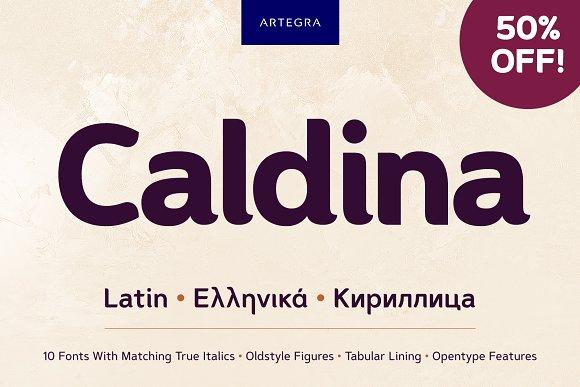 Caldina Sans Serif Font