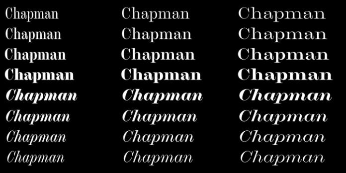 Chapman Font Family