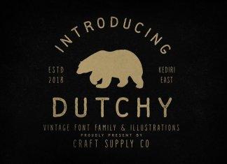 Dutchy - Vintage Type Family +Extras