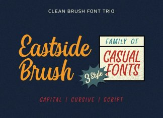 Eastside Brush - Casual Font Trio