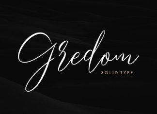 Gredom Script Font