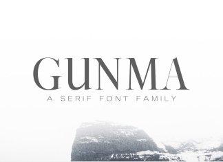 Gunma Serif Font Family