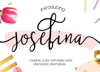 Josefina Bonus Elements Font