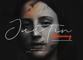 Justin Blooming Font