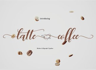 Latte Coffee only Font