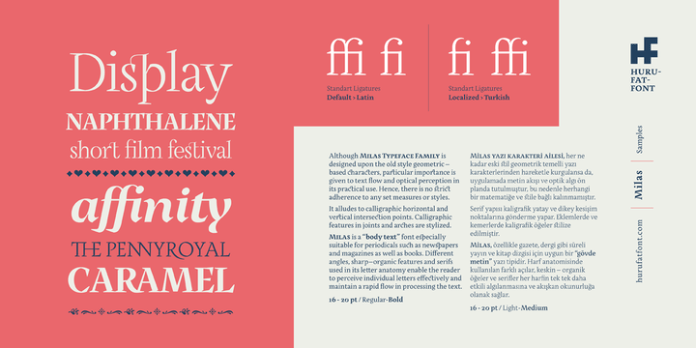 Milas Font Family