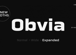 Obvia Expanded Font