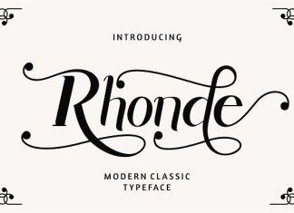 Rhonde - Modern Classic Font