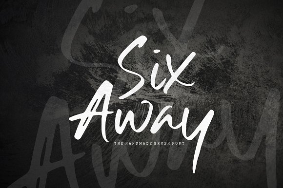 Six Away-The Handmade Brush Font
