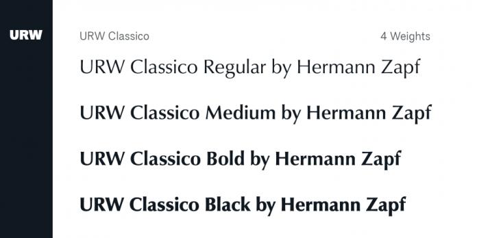 URW Classico Font