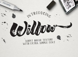 Willow Brush Texture Font