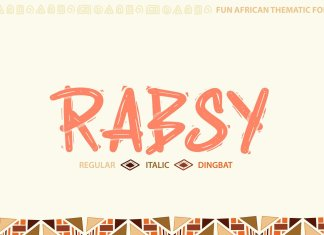 African pattern font