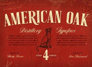 American Oak Serif Font