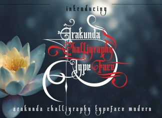 Arakunda Challiraphy Other Font