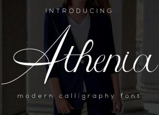 Athenia Script Font