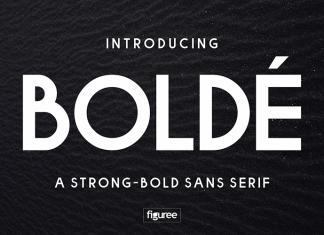 Bolde Regular Font