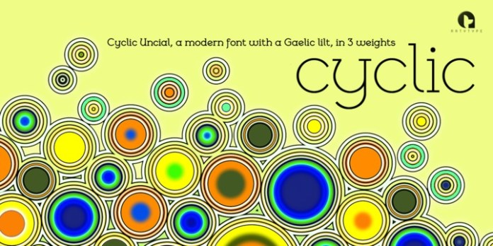 Cyclic Uncial Font Family