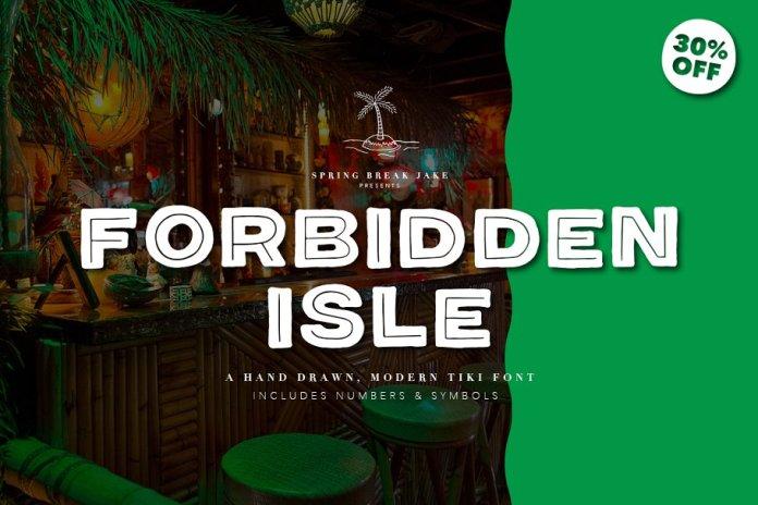 Forbidden Isle Tiki Font