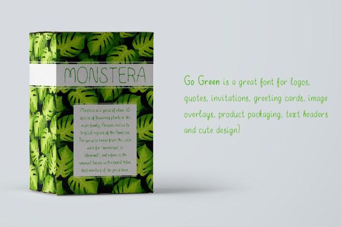 Go Green - handdrawn font Regular Font