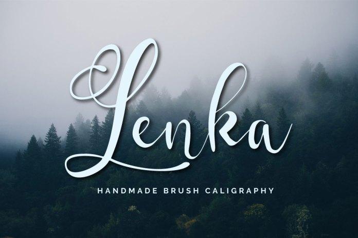 Lenka Brush CaligraphyScript Font