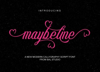 maybeline Script Font