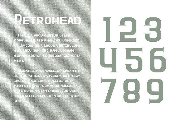 Retrohead Typeface Font