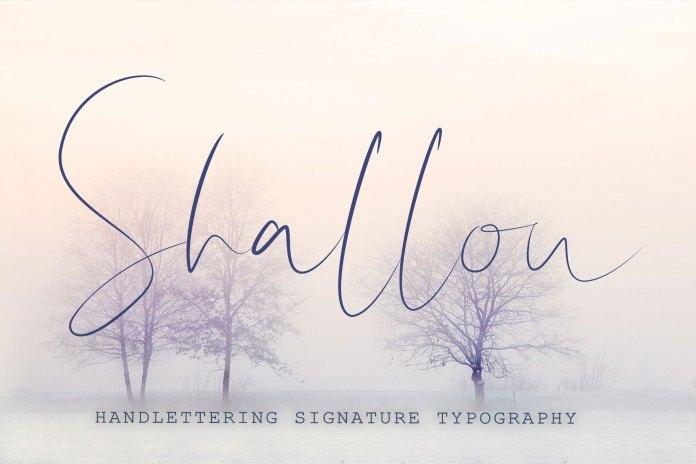 Shallou - Hand Lettering Font