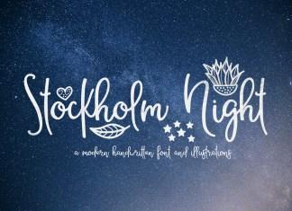 Stockholm Night Script Font
