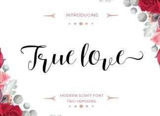 True love Script Font