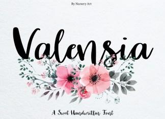 Valensia Script Font