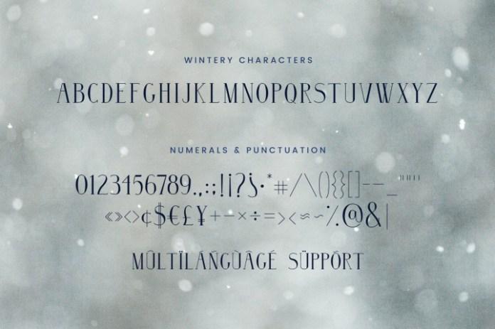 Wintery - A Serif Font Family