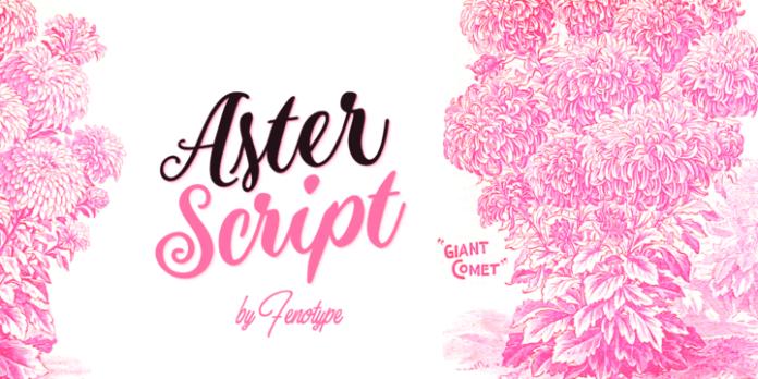 Aster Script Font