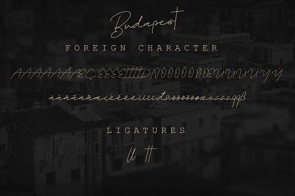 Budapest || Cursive Typeface 3 Fonts