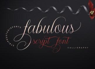 Fabulous Script Font
