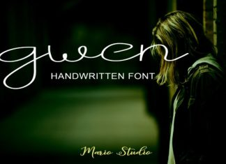 Gwen Script Font