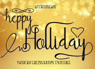 Heppy Holliday Font