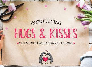 Hugs & KissesRegular Font