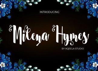 Milena Hymes Script Font