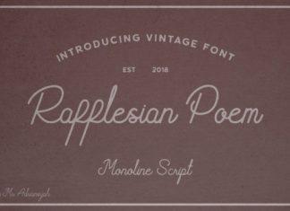 Rafflesian Poem Font
