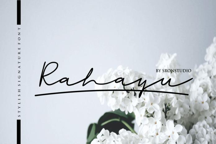 Rahayu - A stylish signature font Script Font