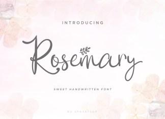 Rosemary Script Font