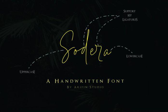 Sodera Script Font