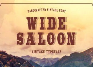 Wide Saloon Font