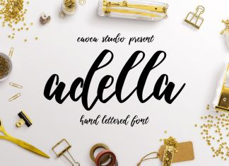 Adella Handlettered Script Font