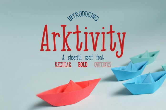Arktivity serif fontRegular Font