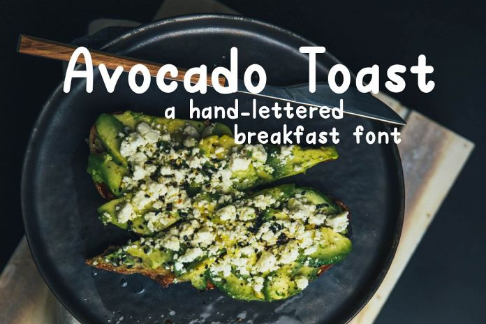 Avocado Toast A Hand-Lettered Breakfast FontRegular Font