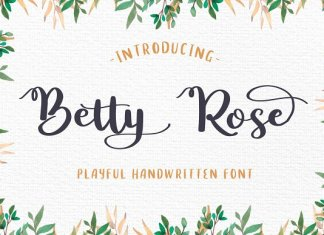Betty Rose - Handwritten Font