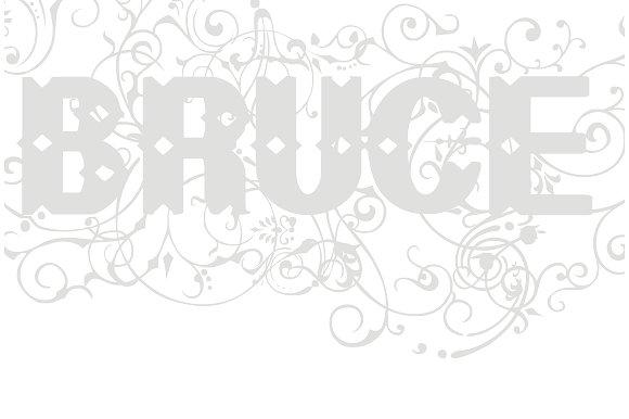 Bruce Flourished Font