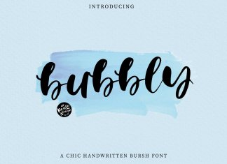 Bubbly | Brush Font